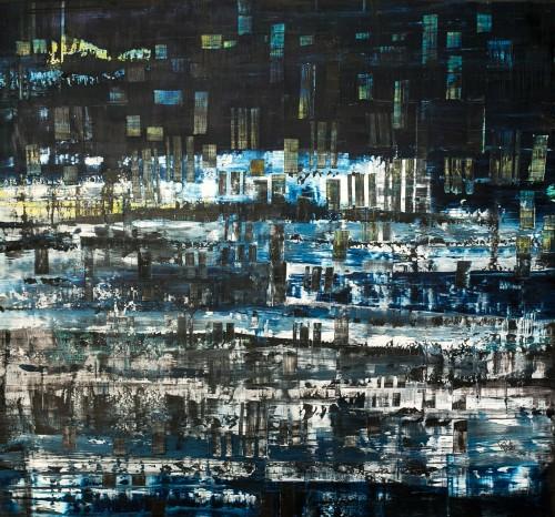 perrotin-peintures-Bleu crépusculaire-L100xH85