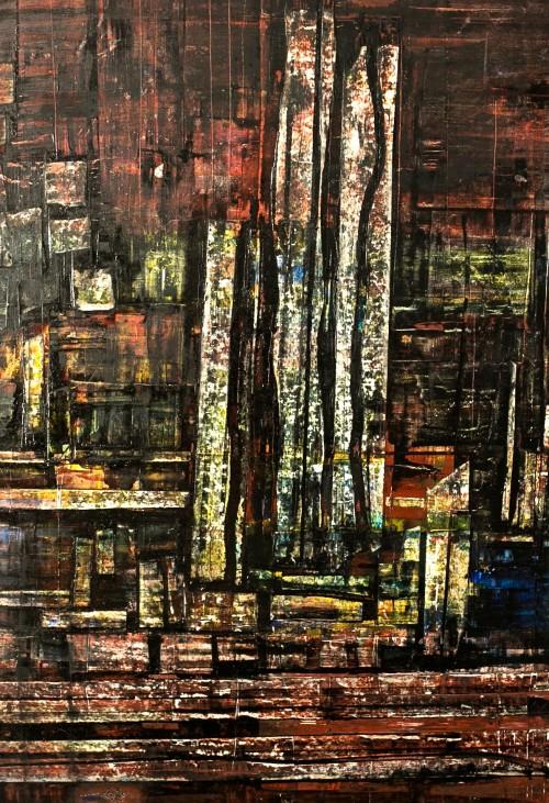 perrotin-peintures-Cathédrale de verre-L70xH100