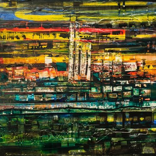 perrotin-peintures-Cyrus jaune-L95xH95