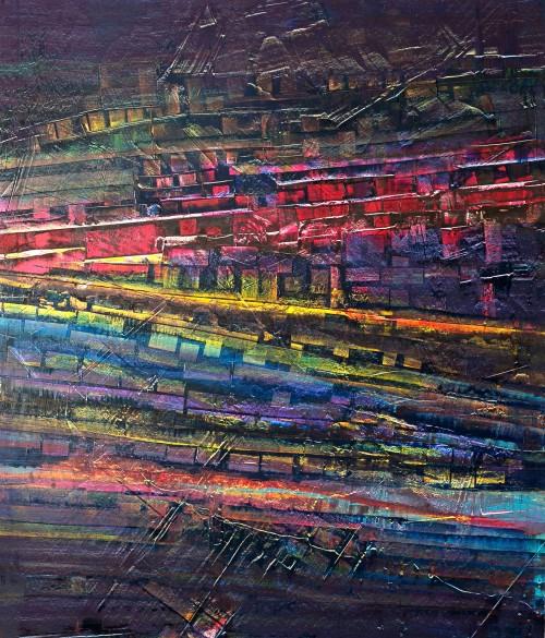 perrotin-peintures-Deux routes la nuit-L85xH95
