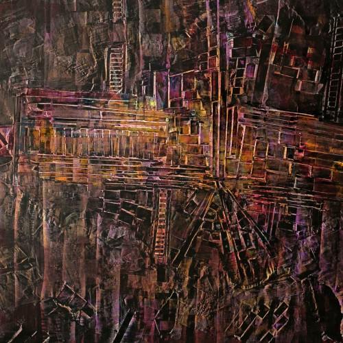 perrotin-peintures-Escalier et temple-L92xH95