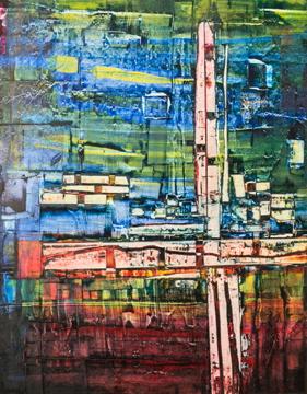 perrotin-peintures-Fischers' towers-L70xH85