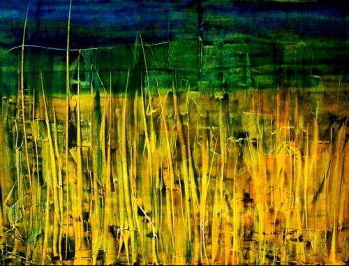 perrotin-peintures-Foret arbres jaunes-L75xH60