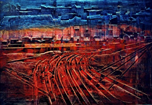 perrotin-peintures-La ville Americaine-L100xH70