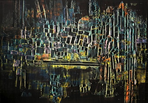 perrotin-peintures-La ville miroir-L125xH70