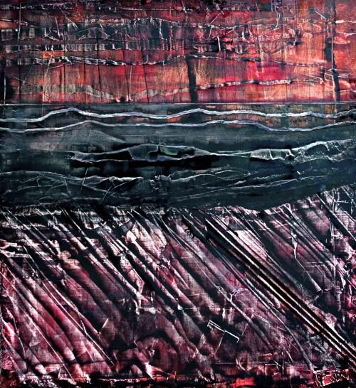 perrotin-peintures-Le lac de pétrole-L70xH80