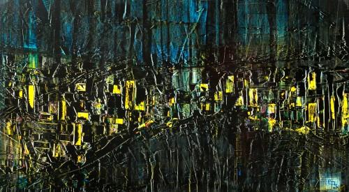 perrotin-peintures-Le marché de nuit-115xH65