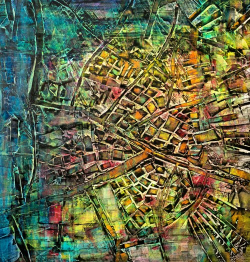 perrotin-peintures-Les canaux en arbre-L95XH90