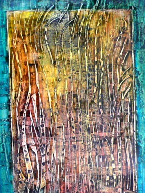 perrotin-peintures-Lit sédimentaire-L80xH110