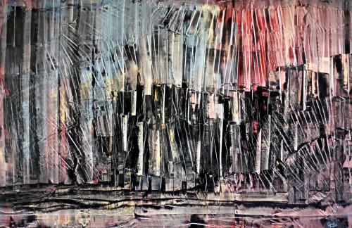 perrotin-peintures-Miroir brisé-L120xH80