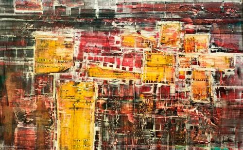 Portes jaunes - L97xH97