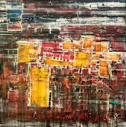 perrotin-peintures-Portes jaunes-L97xH97