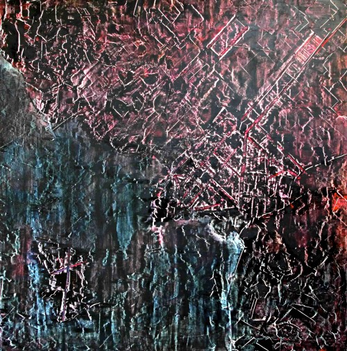 perrotin-peintures-Tapis de bombes-L120xH120