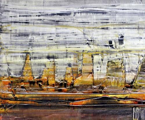 perrotin-peintures-Ville pétrifiée-L60xH65