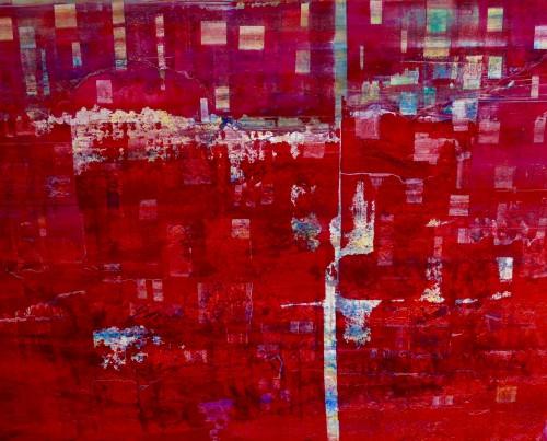 perrotin-peintures-fil rouge-L90xH70